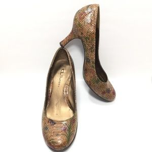 Chinese Laundry Brown Floral High Heel Pumps 8.5